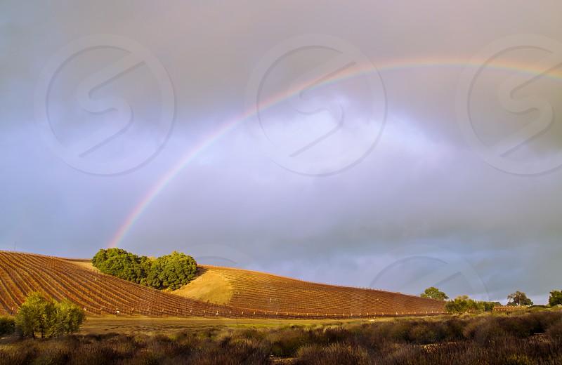 rainbow leads to heart photo