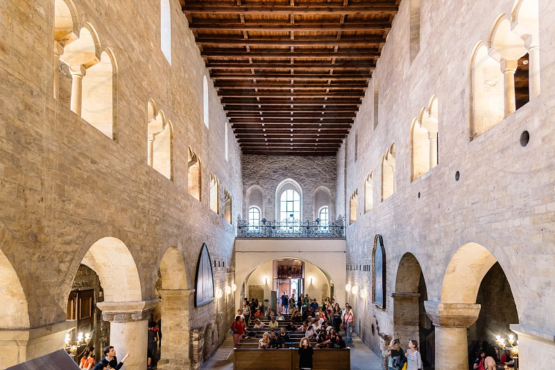 Interior view of the church of Saint George in Prague. It is the oldest surviving church building within Prague Castle. photo