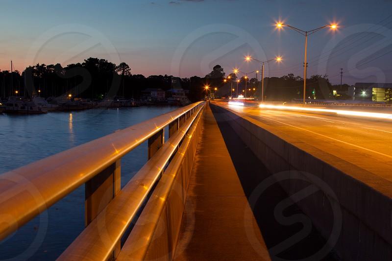 Julington Creek Bridge Jacksonville Florida long exposure photo