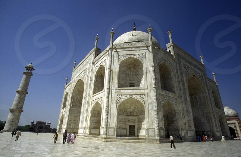 the Taj mahal in the city of Agra in India. photo