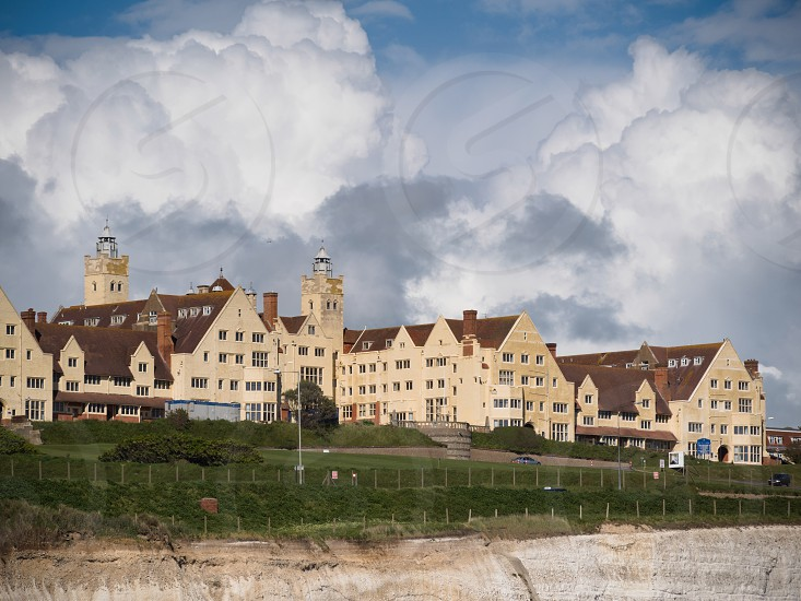 BRIGHTON EAST SUSSEX/UK - MAY 24 : View of Roedean School near Brighton on May 24 2014 photo