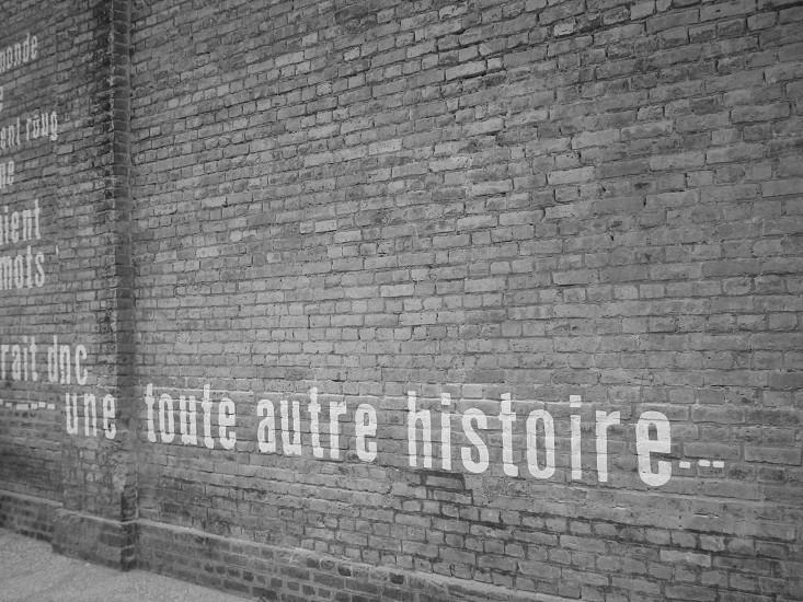 black and white writings wall photo