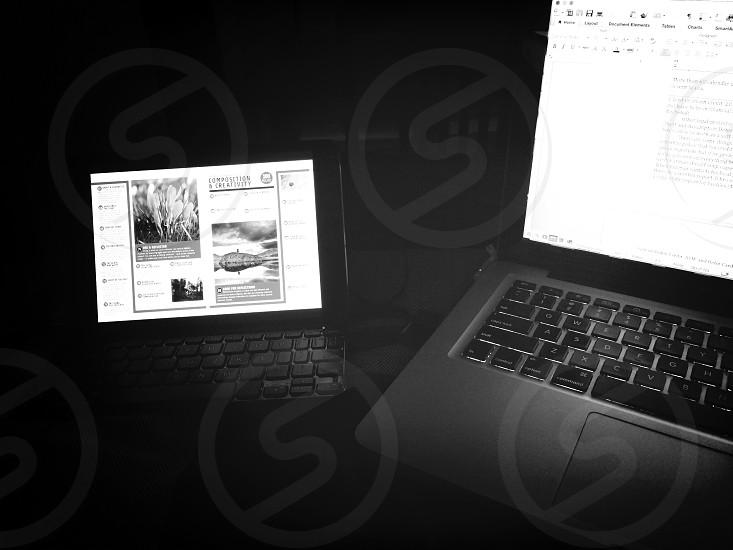 My two working companions. #macbookpro #ipadmini photo