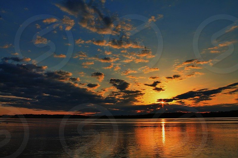sunrise on sea photo