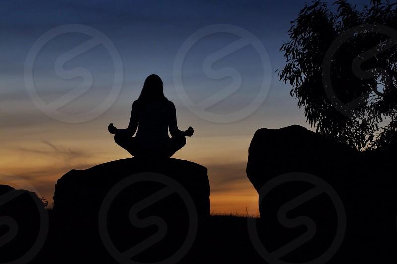 Yoga sunset photo