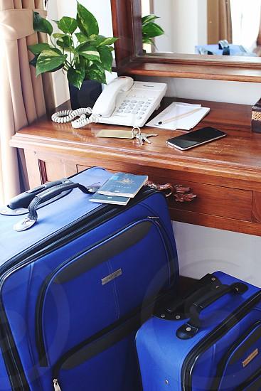Travel suitcase tourism passport  photo