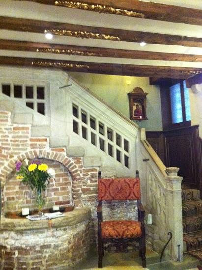 Hotel lobby - Venice Italy. photo