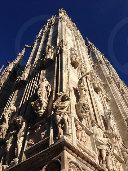 Detail of Milan Cathedral Duomo Architecture Contrast photo