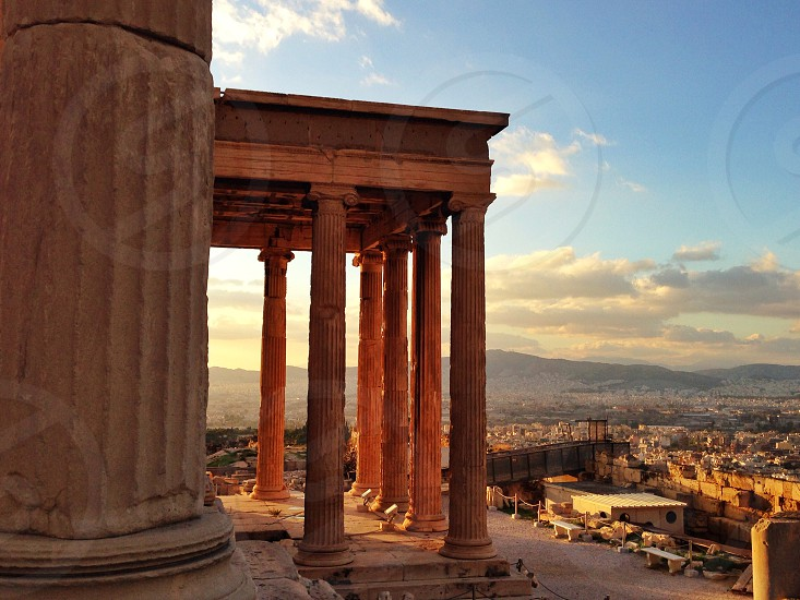 Greece Athens Parthanon Ancient Greece Greeks sunset history column marble architecture beauty awesome photo