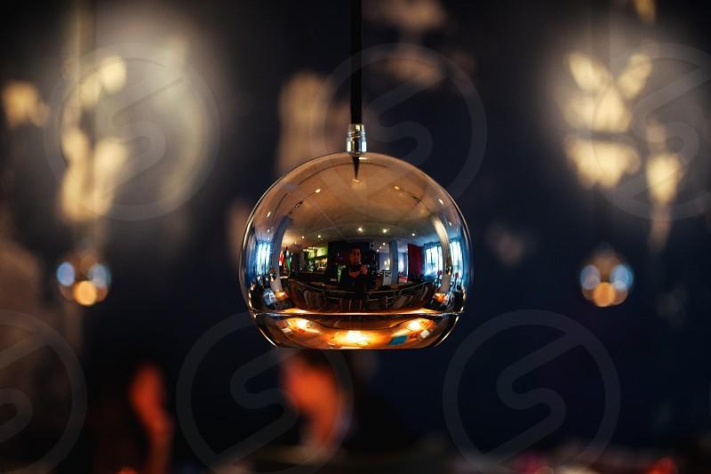 Orb lamp sphere reflection transparent photo