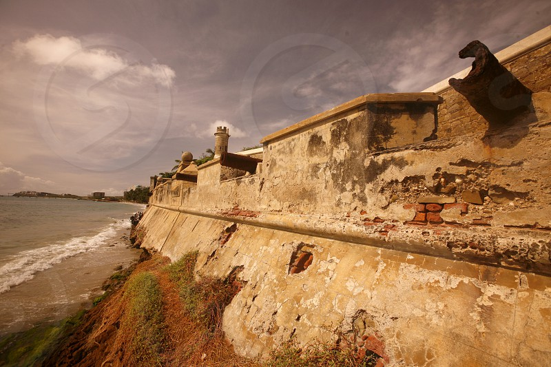 the castillo de San Carlos Borromeo in the town of Pampatar on the Isla Margarita in the caribbean sea of Venezuela. photo
