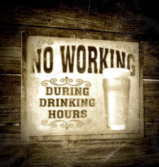 Drinks beer vintage sign photo