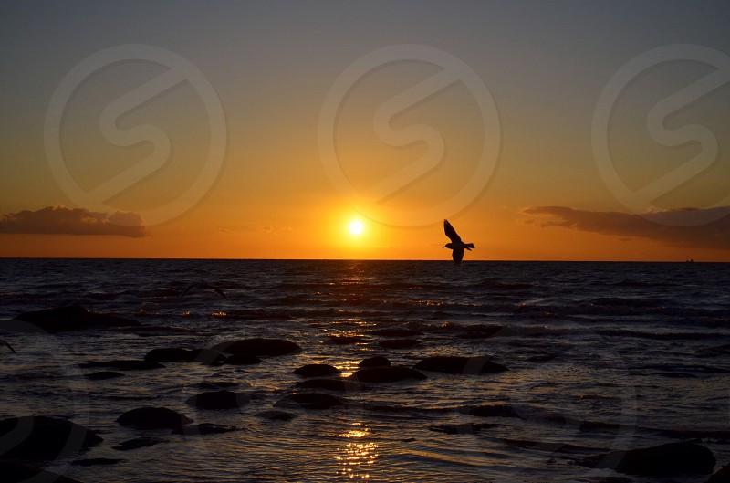 Sunset at Hunstanton Suffolk. photo