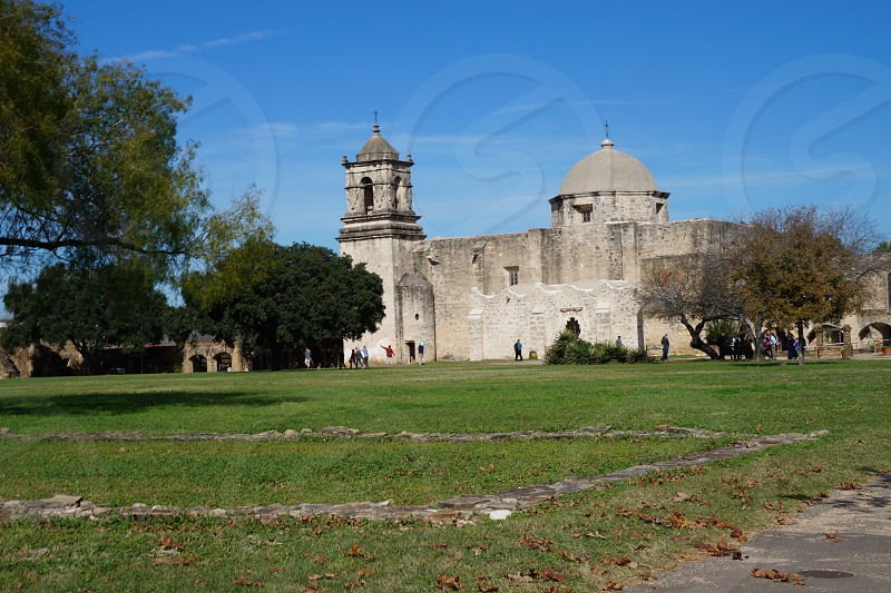 Mission San Jose with Big Blue Sky photo