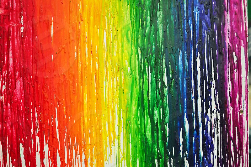 The LGBTQ pride rainbow flag out of craft materials photo