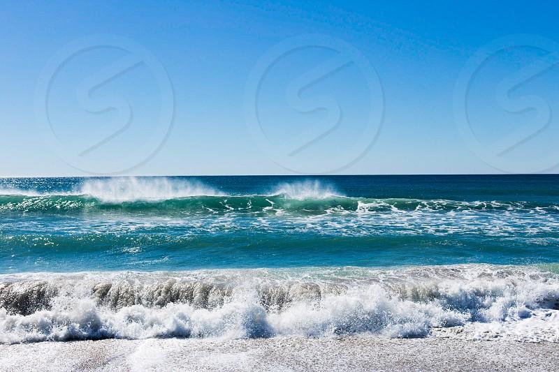 Ocean beach Malibu sand waves wave  photo