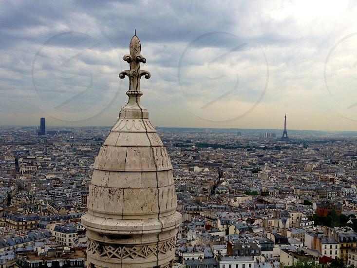 Eiffel Tower from Sacre Coeur Montmartre Paris photo