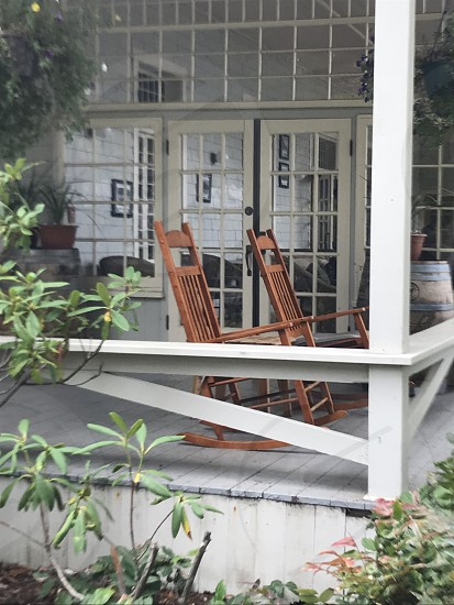 Porch in the summer photo