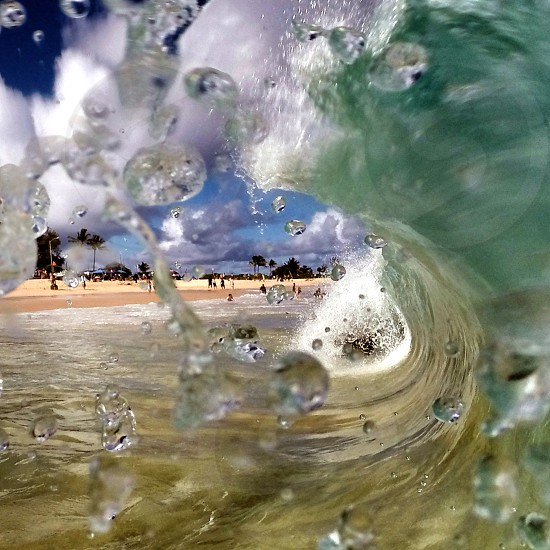 Inside the wave. photo
