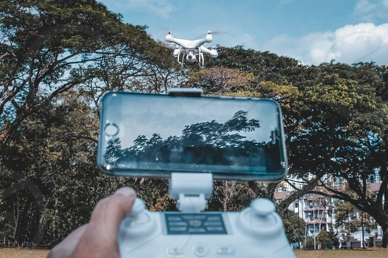 Hovering drone photo