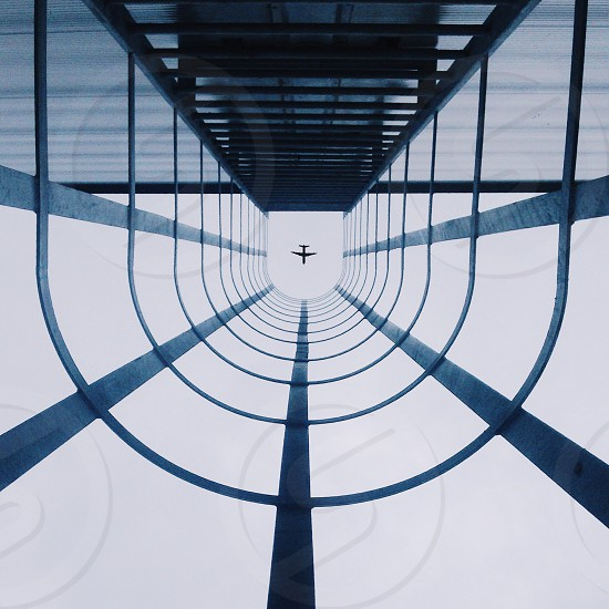 Looking up photo