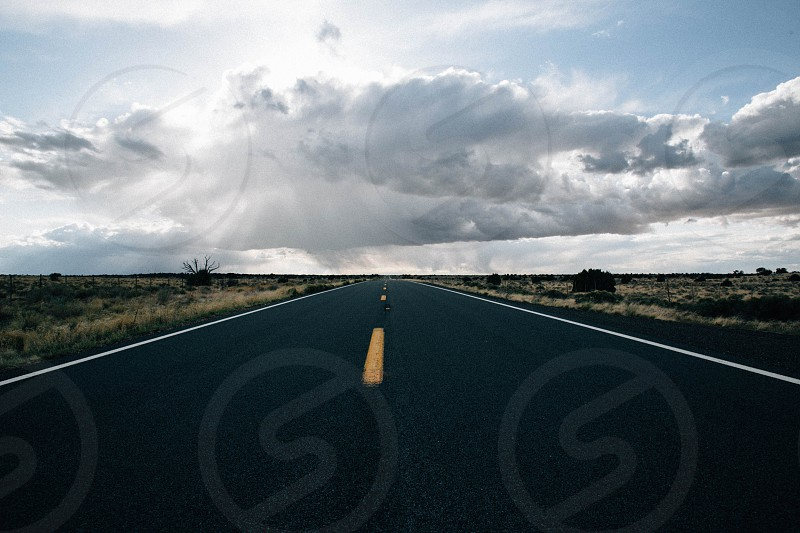 Storm brewing over northern Arizona from the open road. photo
