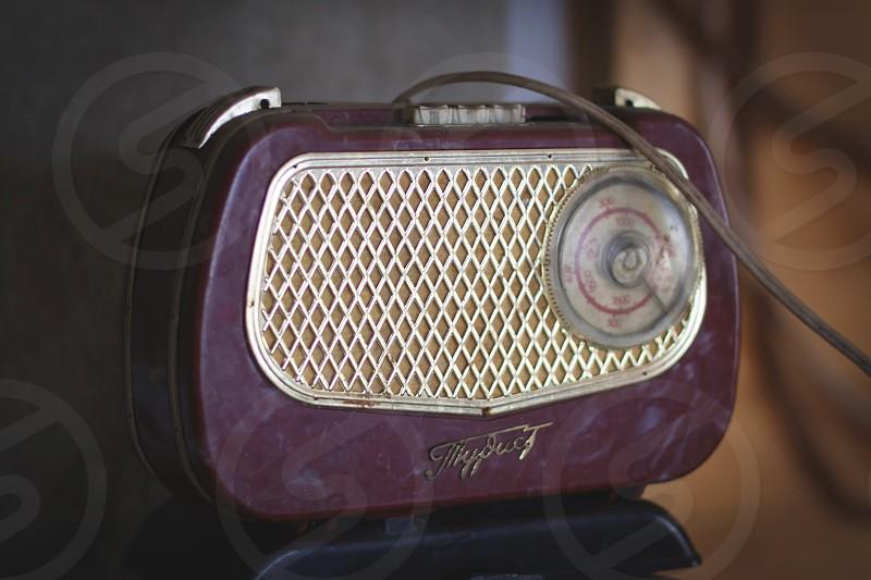 """old Soviet radio """"Tourist"""" photo"""