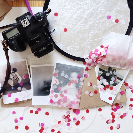black canon dslr camera photo