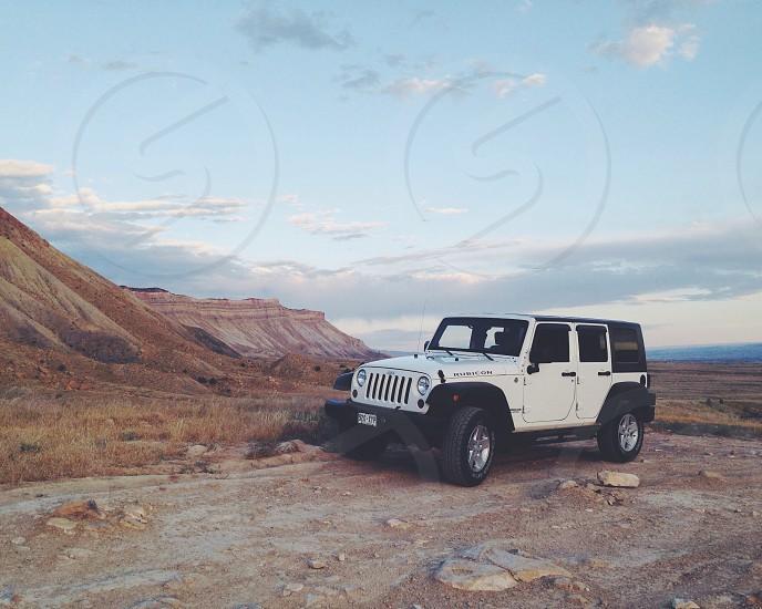 white four door jeep wrangler photo