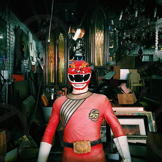 person in power ranger costume photo