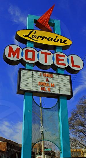 Lorranie motel civil rights history MLK dreams historic signs Memphis museum motel main street  photo