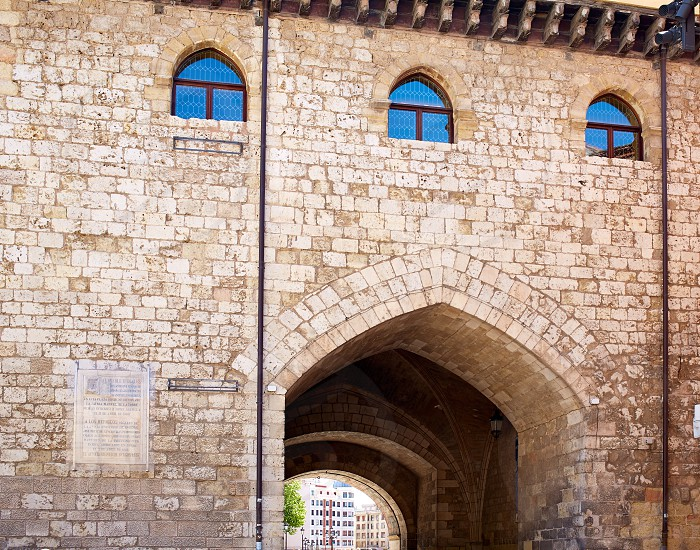 Burgos Arco de Santa Maria arch near Cathedral at Castilla Leon of Spain photo