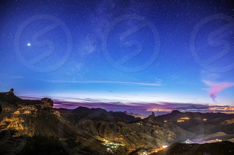 Tejeda Gran Canaria night landscape photo