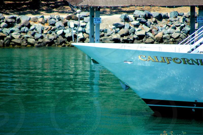 Ship in port in San Diego California photo