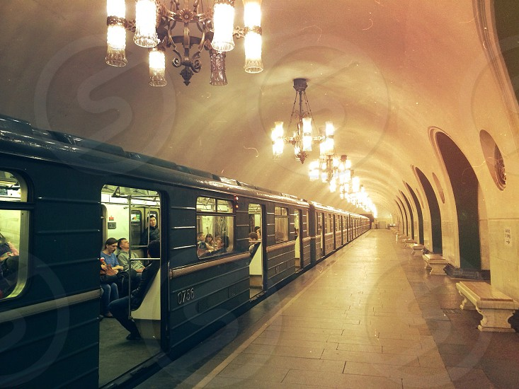 Golden Hour//Moscow Subway photo