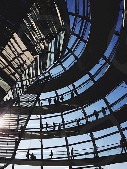 Reichstag glass dome berlin germany bundestag parliament photo