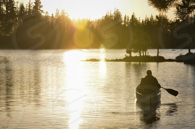 Canoeing away photo