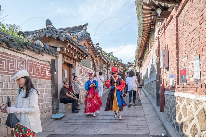 Bukchon Hanok Village at Seoul South Korea photo