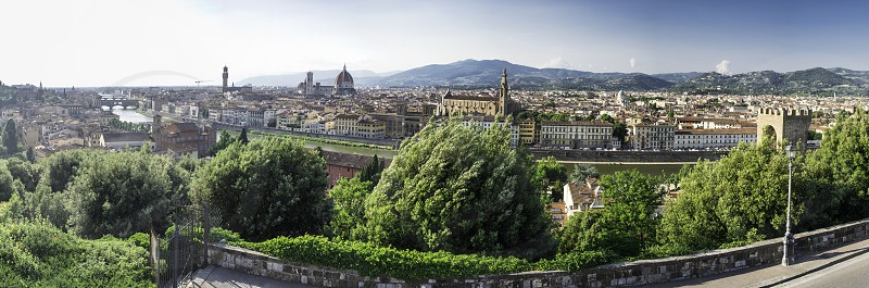Panoramic view of Florence. Day light photo