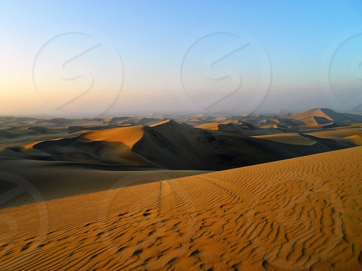 Beautiful dunes if Huacachina Ica Peru. photo