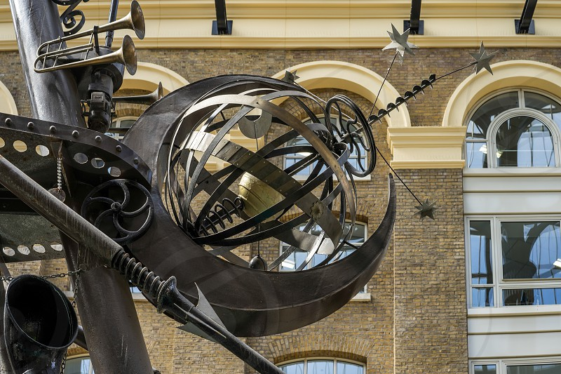 Close-up of The Navigators sculpture by David Kemp photo