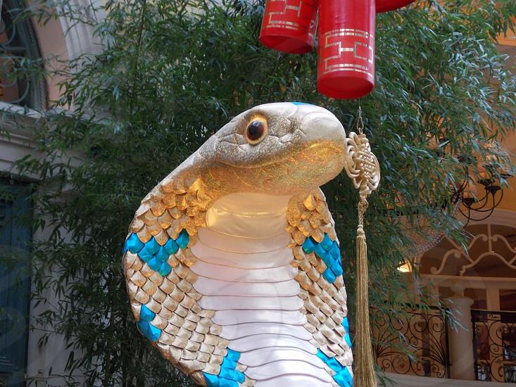 white cobra statue photo