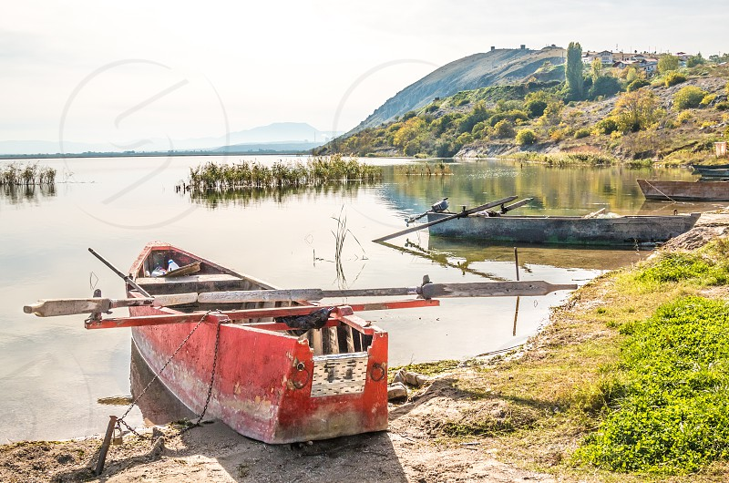 Fishing Boat In The Lake Port photo