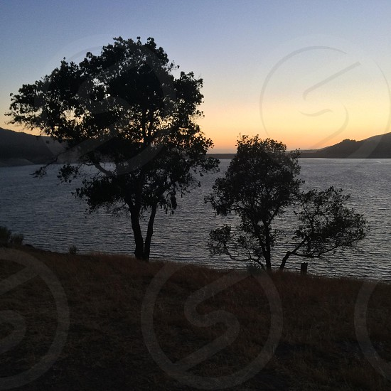 Sunset silhouette  photo