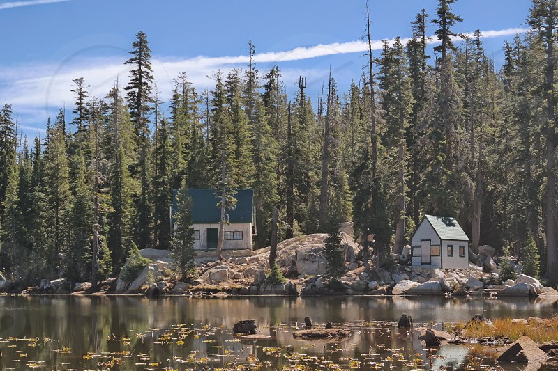 House on a lake photo