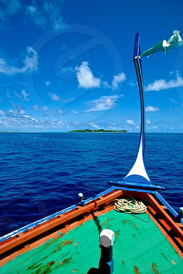 Boating around the Maldives. photo