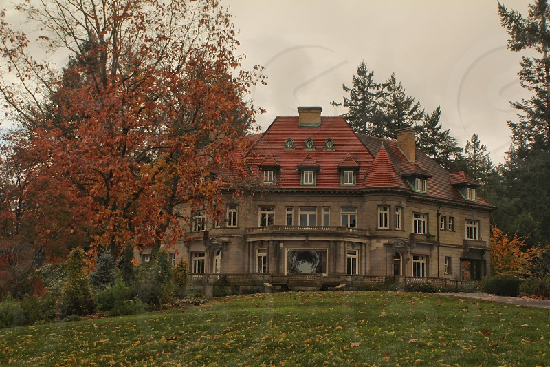 The Pittock Mansion in Autumn photo