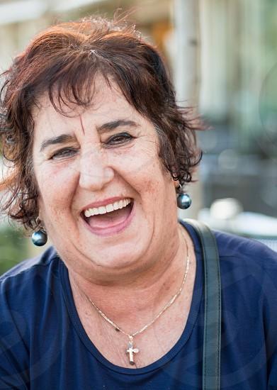 Mature Woman Laughing photo