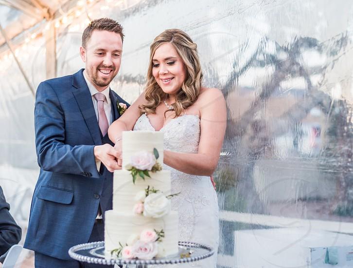 Bright and colorful sunny Sedona Spring wedding photo