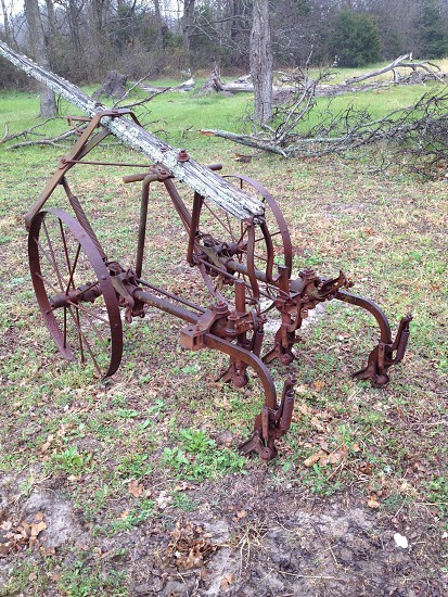 Antique farm equipment taken in Wolfe City TX photo